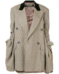 Junya Watanabe - Gathered Sleeve Oversized Tweed Blazer - Lyst