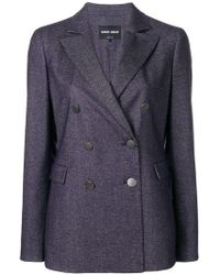 Giorgio Armani - Double-breasted Fitted Blazer - Lyst