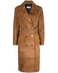 COACH - Double-breasted Trench Coat - Lyst