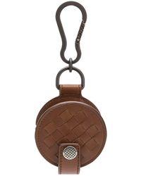 Bottega Veneta - Pochette à écouteurs en cuir tressé Intrecciato - Lyst