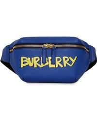 Burberry - Medium Graffiti Print Leather Bum Bag - Lyst