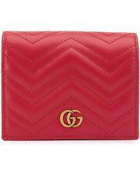 Gucci - Portafoglio GG Marmont - Lyst