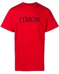 Paura - 'timor' Print T-shirt - Lyst