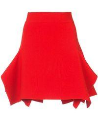 Dion Lee - Box Ruffle Draped Mini Skirt - Lyst