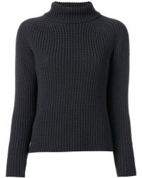 ODEEH - Ribbed Roll Neck Jumper - Lyst