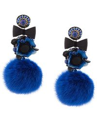 Ranjana Khan - Pompom Earrings - Lyst