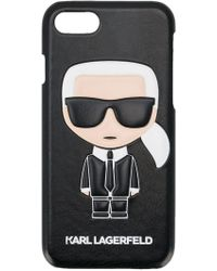 Karl Lagerfeld - Karl Ikonik Pu Embossed 8plus Case - Lyst