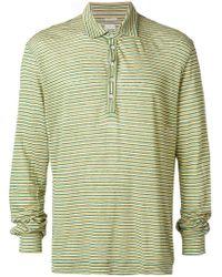Massimo Alba - Striped Long Sleeve Raya Polo - Lyst