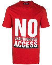Neil Barrett - T-shirt No Unauthorised Access - Lyst