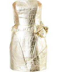 Rubin Singer | Crocodile Effect Bustier Dress | Lyst