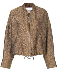 Christian Wijnants - Floral Jacquard Bomber Jacket - Lyst