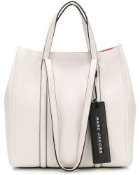 Marc Jacobs - The Tag Tote In Porcelain Leather - Lyst