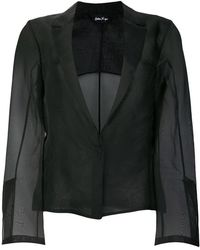 Andrea Ya'aqov - Sheer Single Breasted Blazer - Lyst