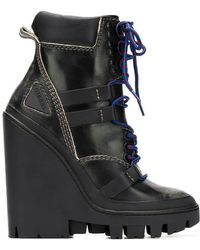 DIESEL - Wedge Ankle Boots - Lyst