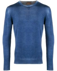 Altea - Washed-effect Fitted Sweater - Lyst