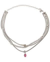 John Hardy - Adwoa Aboah Silver And Mixed Stone Classic Chain Multi-row Adjustable Necklace - Lyst
