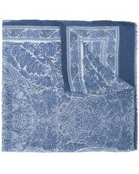 John Varvatos - Embroidered Scarf - Lyst