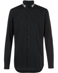 Givenchy - Real Lies Real Eyes Embroidered Shirt - Lyst