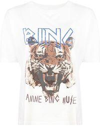 Anine Bing - T-shirt Tiger - Lyst