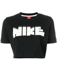 Nike - Cropped Logo T-shirt - Lyst