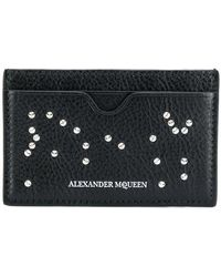 Alexander McQueen - Studded Skull Card Holder - Lyst