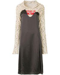AALTO - Hoodie Mixed Jersey Dress - Lyst
