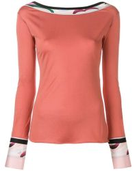 Emilio Pucci - Boat Neck Fitted Top - Lyst