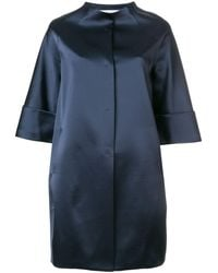 Gianluca Capannolo Glossy Collarless Coat - Blue