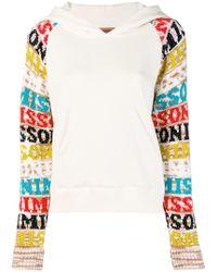 Missoni - Logo Sleeve Hoodie - Lyst