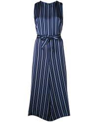 YMC - Striped Culotte Jumpsuit - Lyst