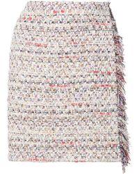 Adam Lippes Tweed Mini Wrap Skirt - White