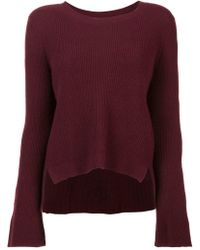 Nicole Miller - Cashmere Bell Sleeved Sweater - Lyst