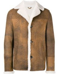DESA NINETEENSEVENTYTWO Shearling Single-breasted Coat