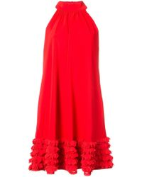 Badgley Mischka - Ruffle Trimmed Dress - Lyst