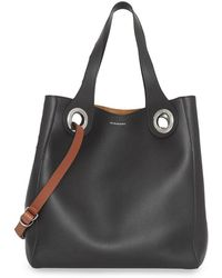 Burberry - The Medium Leather Grommet Detail Tote - Lyst 86b10491ed