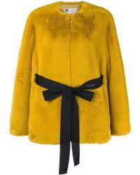 Lanvin - Faux Fur Belted Jacket - Lyst