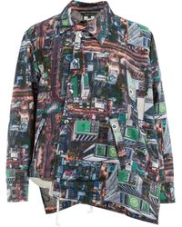 88dfb3805 Gucci Birds Of Prey Silk Twill Bowling Shirt in White for Men - Lyst