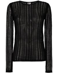 Saint Laurent - Ladder Stitch Stripe Sweater - Lyst