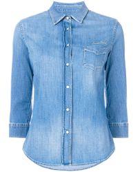 Jacob Cohen - Three-quarter Sleeves Denim Shirt - Lyst