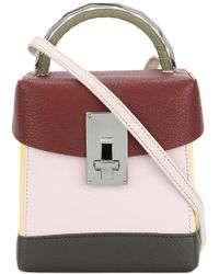 the VOLON - Mirror Detail Box Bag - Lyst