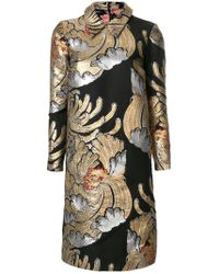 Rochas - Metallic Embroidered Shift Dress - Lyst