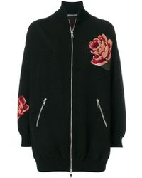 Alexander McQueen - Rose Tapestry Oversized Knitted Bomber Jacket - Lyst