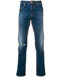 DIESEL - Distressed Fitted Jeans - Lyst