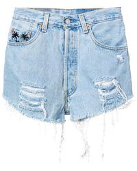 Chiara Ferragni - 1987 Denim Shorts - Lyst