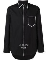 Maison Margiela - Atelier Contrast Binding Shirt - Lyst