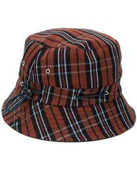YMC - Checked Bucket Hat - Lyst