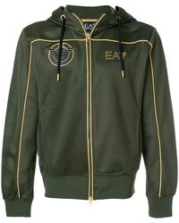 EA7 | Piped Satin Track Top | Lyst