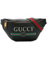 52033b1a3ebc Gucci - Logo Print Belt Bag - Lyst