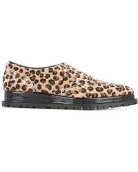 Sacai - Leopard Print Slip-on Oxfords - Lyst