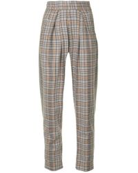 ANOUKI - Check Tapered Trousers - Lyst